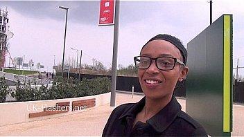 Ebony amateur babe Melanies public flashing and outdoor black exhibitionists