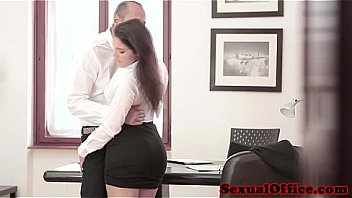 Big busty tits colleague fucked in the office