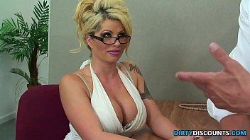 Pussylicked milf secretary rides bosses cock