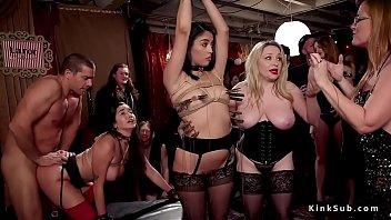 Huge tits blonde mistress made...