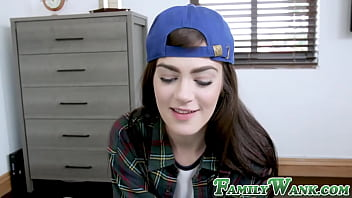 Gorgeous teen hammered by hung stepbro