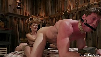 Beautiful rancher_shoves fist in males tight asshole before_rides his big dick Thumbnail
