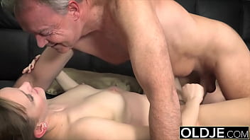Sucking old dude cock until he cums and makes me happy