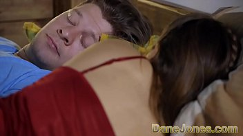 Dane Jones Talia Mint tears her nightgown off, then swings her legs over Michael's body so he can eat her pussy as they 69