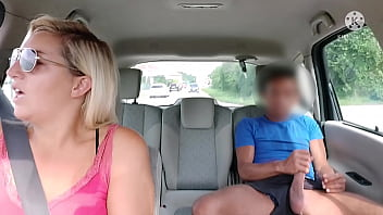 Fake taxi, this pervert dares to show his big cock in public !! And besides, he doesn't even pay me !!
