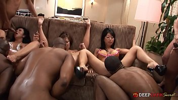 MDDS Hotwife Becky Squirts Leads a BBC Orgy with her GFs
