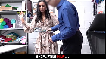 Hot MILF Big Tits Caught Shoplifting Candy Sex With Guard For No Real Cops