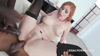 Lauren gets double anal creampie