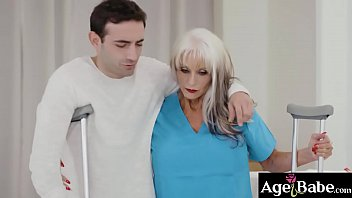 Sally D Angelo giving Jake Adams a hot tit job and start making out more