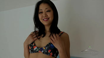 Korean-American Pornstar Saya Song fucks Dildo attached to a machine and cums all over it