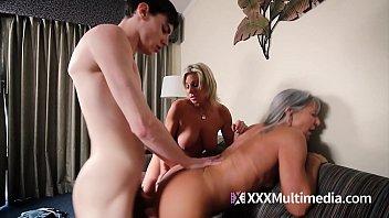 Mommy Fucks Son: Payton Hall and Leilani Taboo Threesome