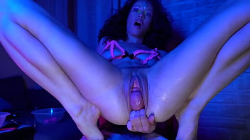 Pervert Pussy Show On the chair at home alone, fisting, huge toy, squirt, cervix.