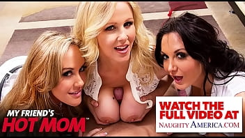 Naughty America - Two hot MILFS fuck a big dick