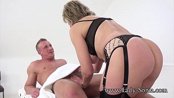 Lady Sonia's massage quickly turns into her getting fucked hard