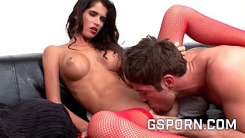 Sexy czech brunette fucking hard in her wet pussy