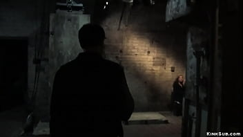In the basement of Armory master and trainer James Mogul makes auditon for slaves and service sluts and tests them with dildos and sticks and canes
