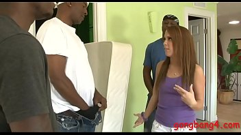 Pretty teen babe Haley Sweet gets her pussy and ass pounded by massive black shafts Thumbnail