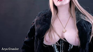Arya Grander with natural breasts tits