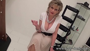 British blonde Lady Sonia is nothing but a tease