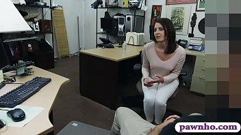 Customers wife gives head and gets pounded at the pawnshop