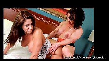 EroticMuscleVideos Fbb Lesbian Training Session