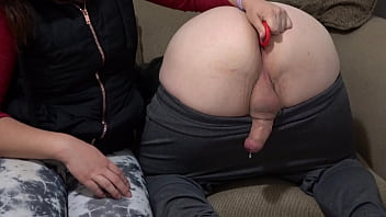 Making Him Ooze Cum Out His Ass - No Hands Prostate Milking Cumshot