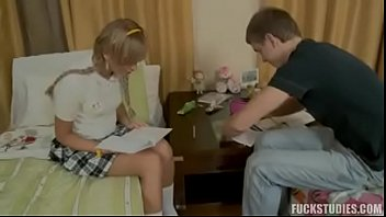 (please tell me her name)Teaching him to ride her y. blonde