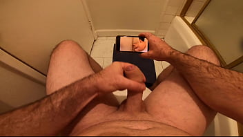 He went into the bathroom to masturbate and watch porn and didn't know his stepsister was in the shower