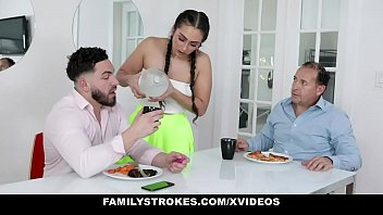FamilyStrokes - Step bro Pranking Virgin Step sister (LillyHall) With Remote Vibrator