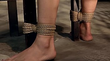 Captured and tied beauties in Mater Jean's basement. Part 3. Master Fourne decides, to leases his third victim, the beautiful Baley.