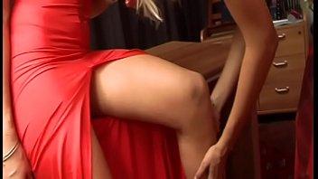 Blonde European cougar Axen enjoys when her Sapphic girlfriend Venezuelan Victoria Lanz fisting her white ass and licks her cunt