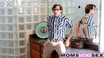 Son And GF Caught By Step Mom So Now They Have To Fuck