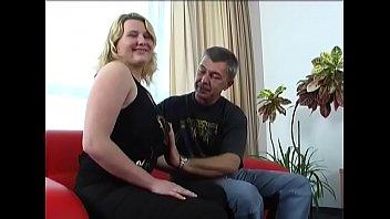 Wanton maiden Gabby with round natural tits to suck slim jim