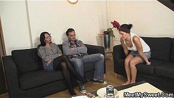 Parents seduce their son's GF
