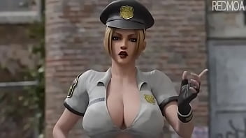 female cop 3d
