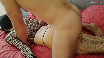 Masked Brunette Gets A Hard Doggystyle Fuck And Cum In Mouth