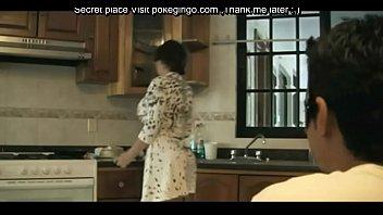 Fucking my big ass stepmom in the kitchen