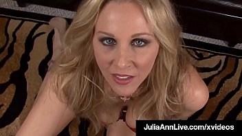 Beautiful Busty Milf Julia Ann talks some major dirty talk as she slobbers all over a hard cock POV until she gets a warm cum dump in her potty mouth! Full Video & Julia Live @ JuliaAnnLive.com! Thumbnail