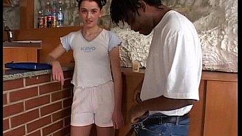 Skinny german teen gets pussy black fucked
