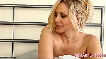 Busty MILF Julia Ann Loves Expensive Lingerie