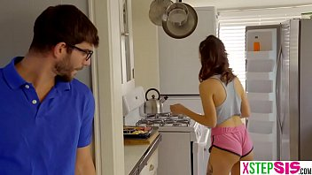 Teen stepsister and bro pranking each other too much