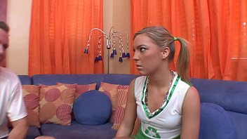 Naughty Cheerleader Ally Kay shows mirracles of elasticity in intercourse with aged man