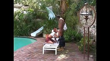 Kinky slut Donna Marie fills her fuckholes by cock outdoor