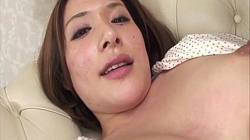 Horny Emi Orihara in polka dots fondles her nice tits and toys her perfect pussy