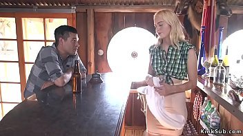 Blonde beauty Chloe Cherry is maid in Saloon and mountains drifter Xander Corvus tied up her and anal and pussy fucked