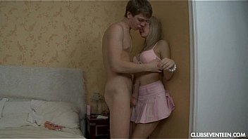 Blonde teen gets arse fucked