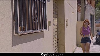 Oyeloca - Sexy Latin Girl (Lylian Red) Spotted Neighbors Giant Cock To Fuck