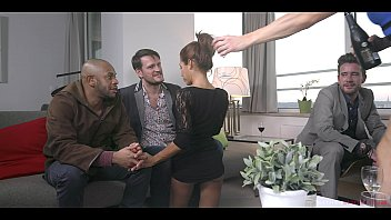 Rose Valerie & Brittany Bardot Get Fucked by three studs and swallow cum after hardcore double penetrations