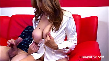 Big Titty Tutor Julia Ann gets inappropriate with her student, giving him an A  Blowjob & a great fuck until her chest, belly & pussy are covered in cum. Full Video & Julia Live @ JuliaAnnLive.com!
