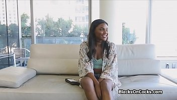 Lubed Black Teen Drilled Hard At Pov Audition thumbnail